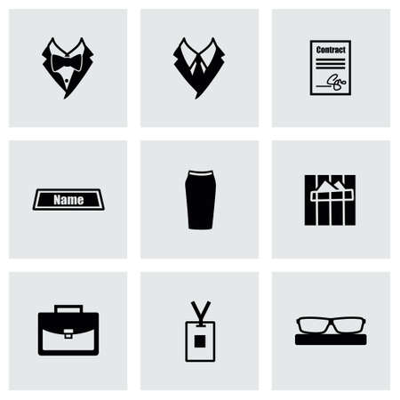 office people: Vector Office people icon set on grey background