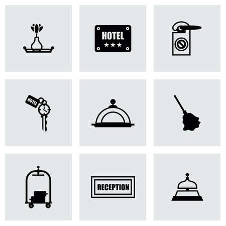 hotel icon set: Vector Hotel icon set on grey background