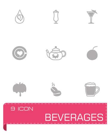 reis gekocht: Vector Getr�nke-Symbol auf grauem Hintergrund