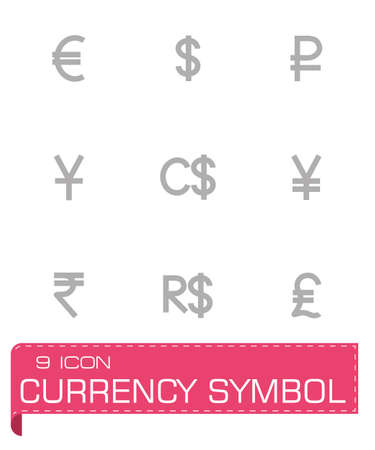 renminbi: Vector Currency symbol icon set on grey background