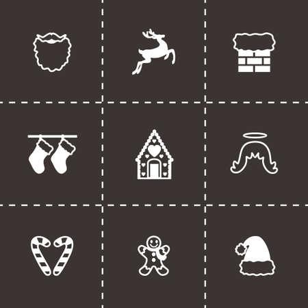 cristmas: Vector Cristmas icon set on black background Illustration