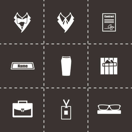 office people: Vector Office people icon set on black background