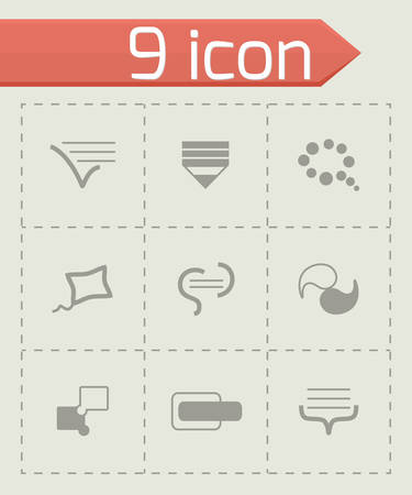Vector Bulds icon set on grey background