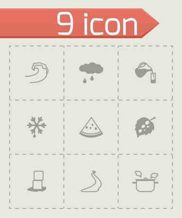soda splash: Vector Water icon set on grey background