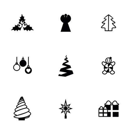 cristmas: Vector Cristmas trees icon set on white background