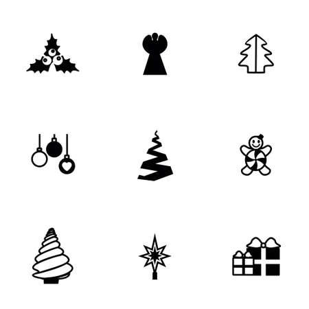 cristmas: Vector Cristmas trees icon set on white background