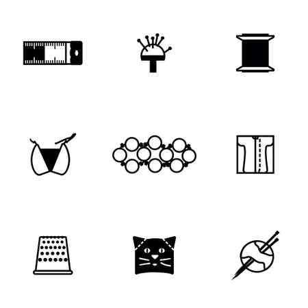 compute: Vector Needlywork icon set on white background