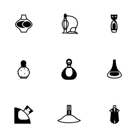 Vector Perfume icon set on white background Vettoriali