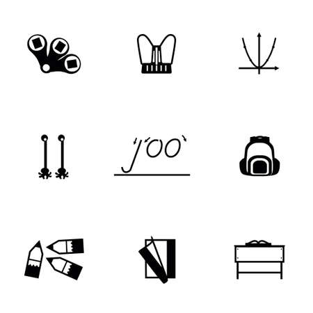 schoolbook: Vector Schoolbook icon set on white background
