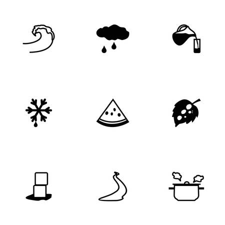 soda splash: Vector Water icon set on white background