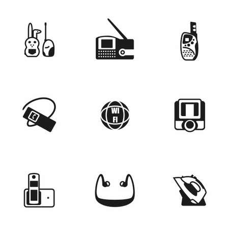 wireless lan: Vector Wireless icon set on white background