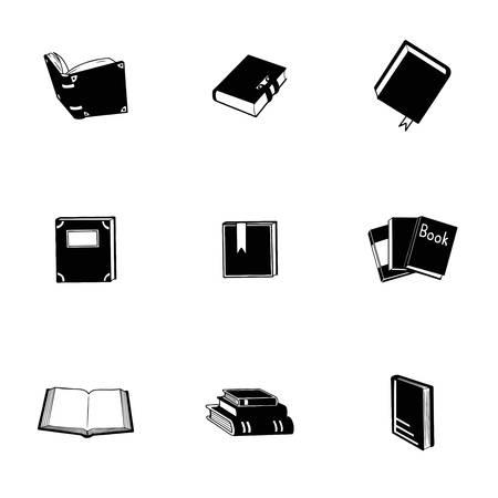 epublishing: Vector Book icon set on white background