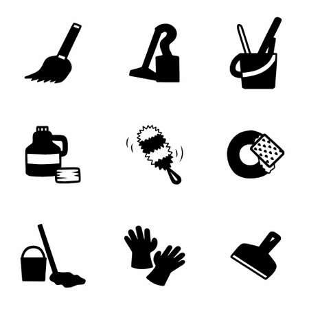 escapula: Vector Clearning icon set on white background Vectores