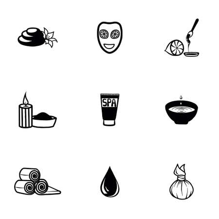 feet care: Vector Spa icon set on white background