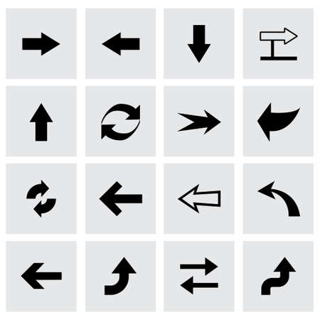 electric hole: Vector arrows icon set  on grey background