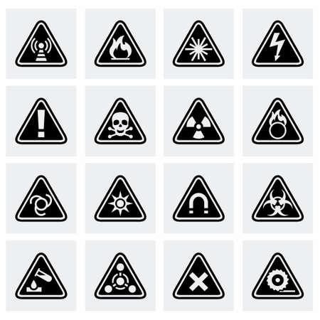 Vector Danger Symbol auf grauem Hintergrund