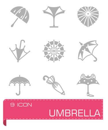beach closed: Vector Umbrella icon set