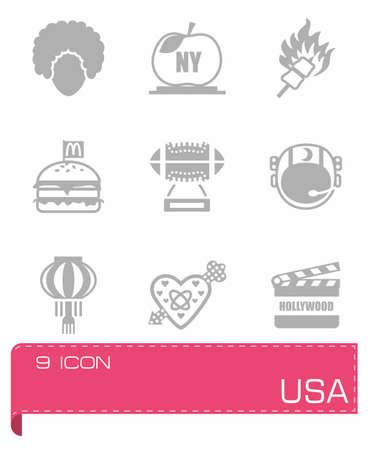 Vector USA icon set Illustration