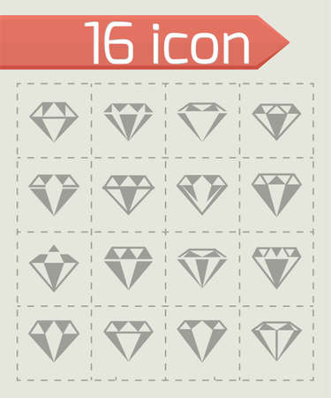 Vector Diamond icon set illustration on white background. Reklamní fotografie - 100123828