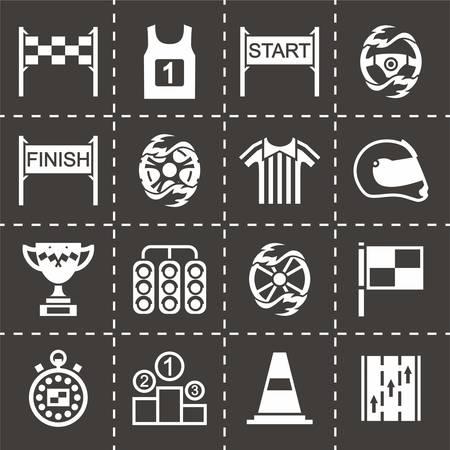 Vector Racing icon set