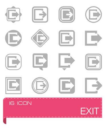 Vector Exit icon set
