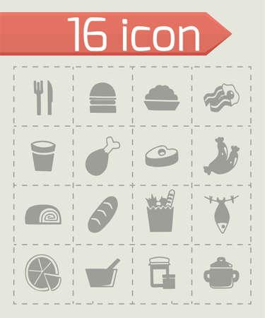Vector Food icon set Illustration