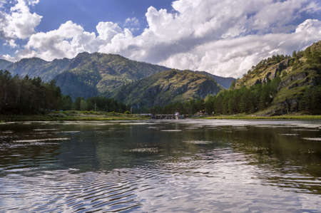 Chemalsky water-power station in the Altai mountains