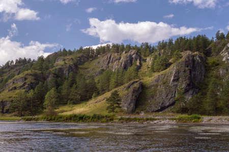 Cliffs of Altai mountains Stock Photo