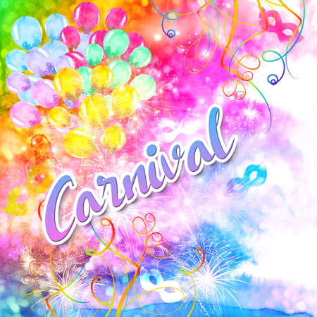 Cranival watercolor abstract background