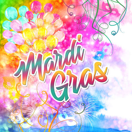 Mardi Gras event colorful background