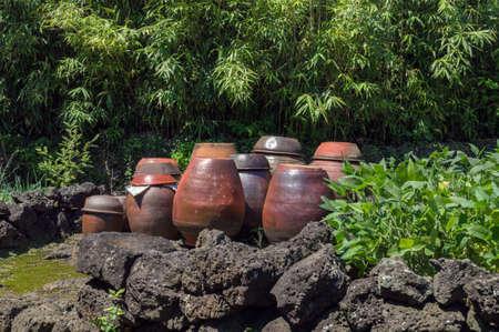 traditional korean ceramic jars thats used for food fermentation