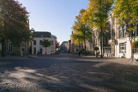 Utrecht, The Netherlands, October 07, 2018: central square on sunny sunday morning Redactioneel