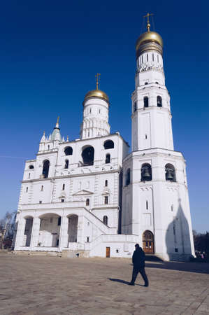 Moscow, Russia, March 10, 2017: Ivan the Great Bell tower complex on Kremlin grounds