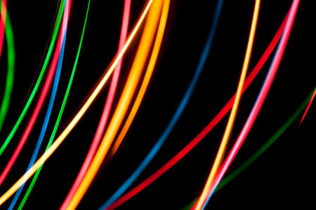 Colorful abstract light streaks photo