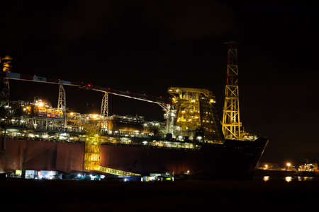 superstructure: FPSO ship docked in Rotterdam