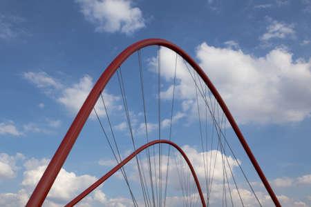 Double arch bridge in Gelsenkirchen Stock Photo