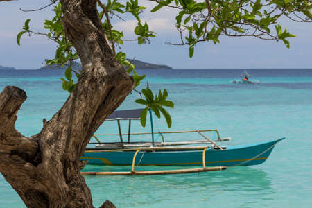 Boat In Turquoise Water In Palawan