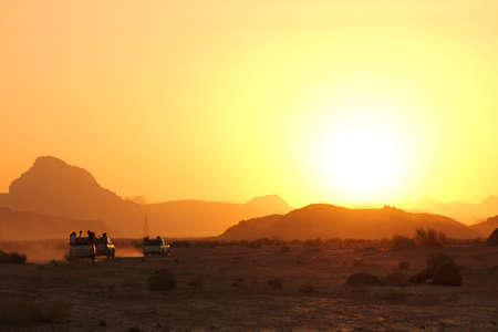 Sunset in the wadi rum