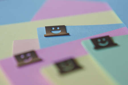 Funny braces and pastel colored paper