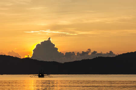 Sunset at Port Barton in the Philippines