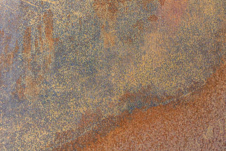 Rusty and weathered iron surface