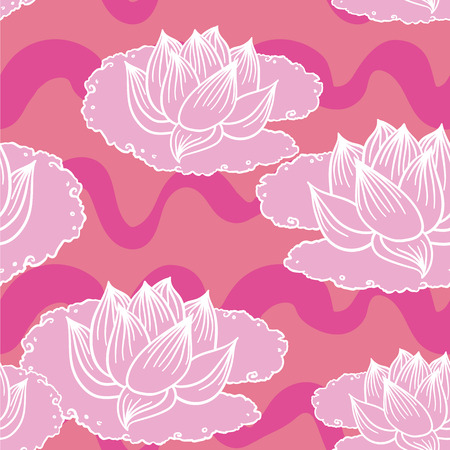 Waterlily Seamless Pattern