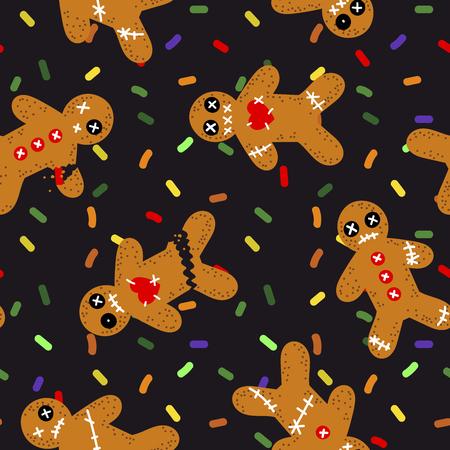 不気味クッキーパターン