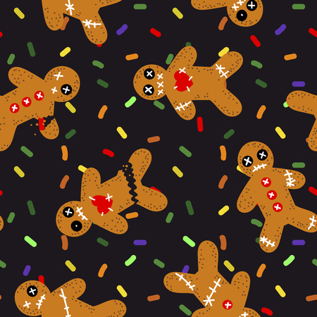 Spooky Cookie-Muster Standard-Bild - 86961524