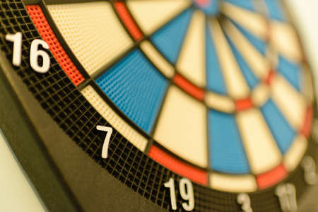 Close up of a dartboard. Marketing concept. Stock Photo