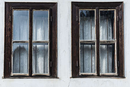 Windows of old traditional house in Tryavna, Bulgaria 写真素材