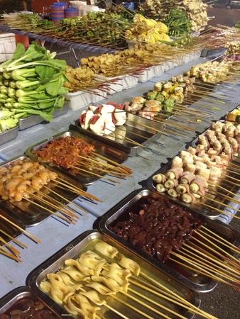 taman: Lok-lok stall at Taman Pelangi Stock Photo