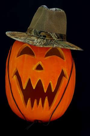 Halloween Carved Pumpkin as Outback Jack