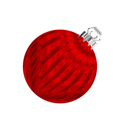 Red Christmas ornament isolated on white for holiday decorating.