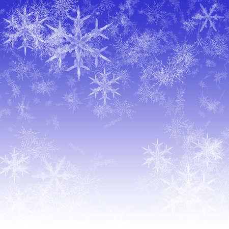 雪 - 雪、雪、青と白の空をましょう。 写真素材